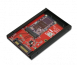 "Addonics 2.5"" mSATA Flash drive(AD25MSD)mSATA转2.5寸SSD硬盘转接卡"
