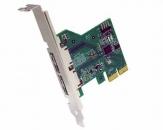 久诚S3-PCIE2XG212 PCI Express x2 2.0转2个eSATA III (6 Gbps)转接扩展卡