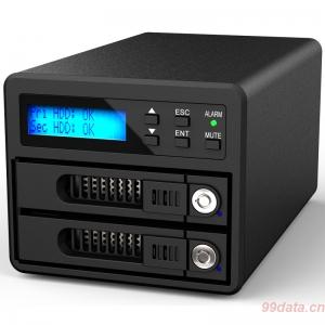 RAIDON 锐安GR3680-SB3 双盘位USB3.0与eSATA接口磁盘阵列