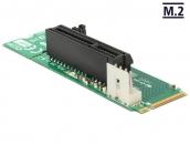 DELOCK 62584 M.2 NGFF Key M转PCI Express x4 2.0插槽