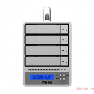 Stardom SR4-SB3塔式4盘位多接口磁盘阵列柜 RAID5