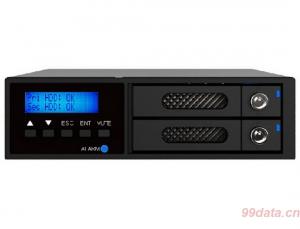 RAIDON 锐铵 iR2022 内置硬盘模组,支持RAID1/0
