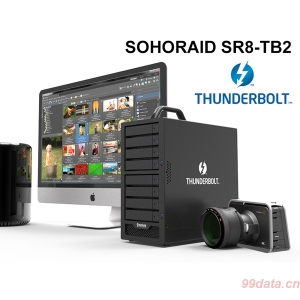 8盘位Stardom SR8-TB2 Thunderbolt 2雷电磁盘阵列柜 RAID5