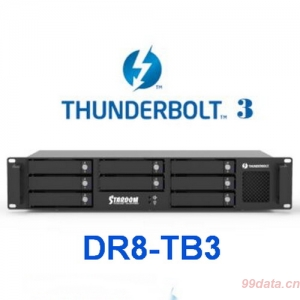 Stardom DR8-TB3 8盘位Thunderbolt 3雷电磁盘阵列柜 RAID5