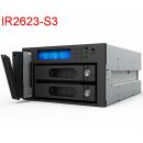 RAIDON iR2623-S3 2 CD-ROM光驱位 内置RAID磁盘阵列模组