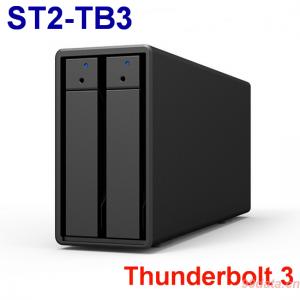 Stardom ST2-TB3 2盘位Thunderbolt 3雷电阵列柜磁盘阵列柜