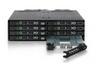 "ICY DOCK MB998IP-B全金属8盘2.5"" SATA硬盘盒占用1个5.25"" 光驱位硬盘模组"
