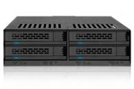 "ICY DOCK MB324SP-B 4盘2.5"" SAS/SATA HDD与SSD硬盘盒1个 5.25""光驱位硬盘模组"