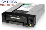 """ICY DOCK MB971SP-B 2.5""""与3.5"""" SATA热插拔硬盘抽取盒适用于5.25""""光驱位"""