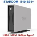 Stardom i310-B31+ USB3.1 GEN2 10Gbps Type C硬盘盒支持雷电3