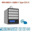 Stardom SR4-SB31+ 4盘位USB3.1 Type C RAID磁盘阵列柜
