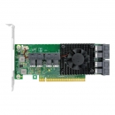 LRNV9349-8I PCIe x16 转内置8口SFF-8643 NVMe