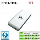 1TB Stardom PD01-TB3+ 40Gb Thunderbolt 3NVME M.2 m2 SSD固态移动硬盘