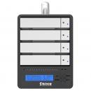 SR4-SB31A USB3.0 RAID5硬盘阵列柜铝合金机箱 带LCD显示 银色外壳